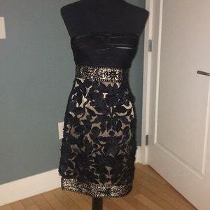 Sue Wong black lace cocktail dress
